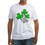 Irish Shamrocks Fitted T-Shirt
