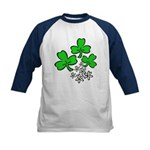 Irish Shamrocks Kids Baseball Jersey