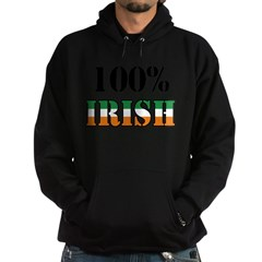 100 Percent Irish T-Shirts Hoodie (dark)