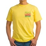 Two Sides Printed Yellow T-Shirt