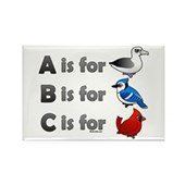 B is for Birdorable Rectangle Magnet