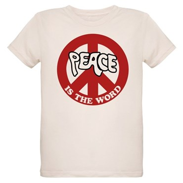Peace is the word Organic Kids T-Shirt