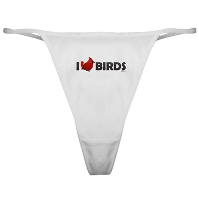 I Love Birds Classic Thong