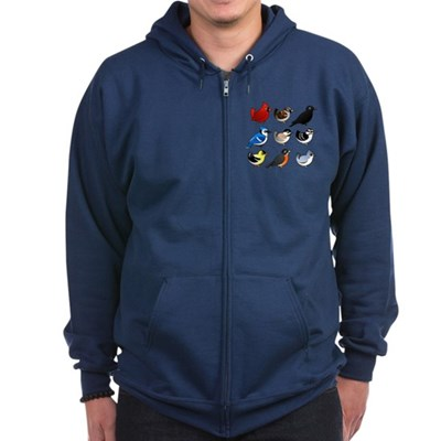9 Backyard Birds (US) Zip Hoodie (dark)