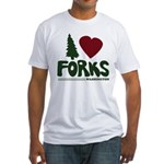 I Heart Forks, WA - Twilight Fitted T-Shirt