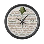 Shakespeare Insults T-shirts & Gifts Large Wall Clock