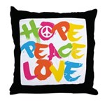 Hope Peace Love Throw Pillow