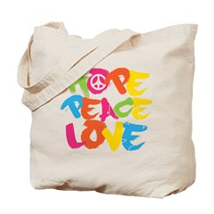 Hope Peace Love Tote Bag