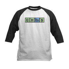 Chess made of Elements Kids Baseball Jersey