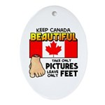 Canada Severed Foot Ornament (Oval)