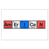 American made of Elements Large Poster