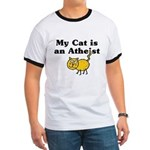 My Cat Is An Atheist Ringer T