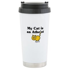 My Cat Is An Atheist Ceramic Travel Mug