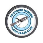 Clean Plate Club Founder Wall Clock