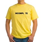 INCOMPL_TE Yellow T-Shirt