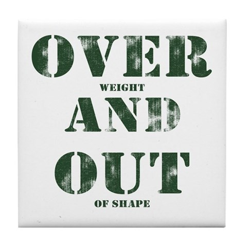 Over & Out Tile Coaster