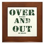 Over & Out Framed Tile