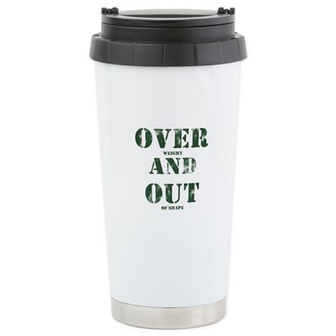 Over & Out Stainless Steel Travel Mug