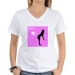 iFart Funny Spoof Women's V-Neck T-Shirt