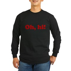 Oh, hi! Long Sleeve Dark T-Shirt