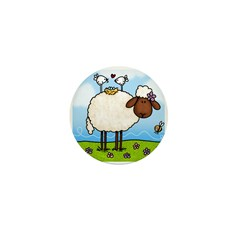 Spring Sheep Mini Button