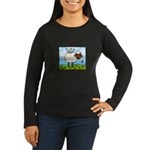 Spring Sheep Women's Long Sleeve Dark T-Shirt