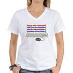 QWERTY B.C. Women's V-Neck T-Shirt