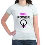 Girl Power Symbol Jr. Ringer T-Shirt