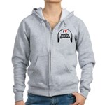 I Love Audio Guides Women's Zip Hoodie