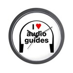 I Love Audio Guides Wall Clock