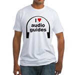 I Love Audio Guides Fitted T-Shirt