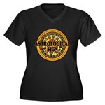 Astrological Sign Women's Plus Size V-Neck Dark T-Shirt