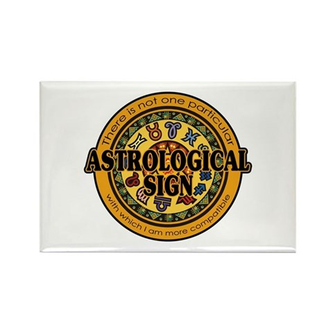 Astrological Sign Rectangle Magnet