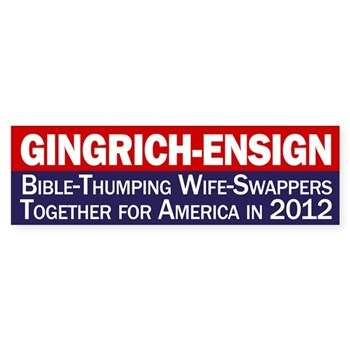 Gingrich-Ensign for America Bumper Sticker