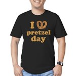 I Pretzel Pretzel Day Men's Fitted T-Shirt (dark)