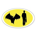 Bat Man Sticker (Oval)