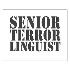 Senior Terror Linguist Small Poster