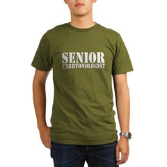 Senior Carryonologist Organic Men's T-Shirt (dark)