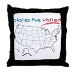 States I've Been To Throw Pillow