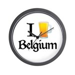 I Love Belgium (Beer) Wall Clock