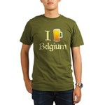 I Love Belgium (Beer) Organic Men's T-Shirt (dark)