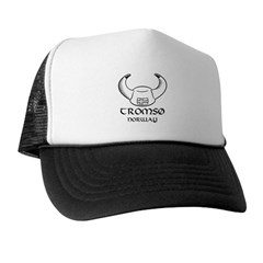 Tromso Norway Viking Hat (B&W) Trucker Hat