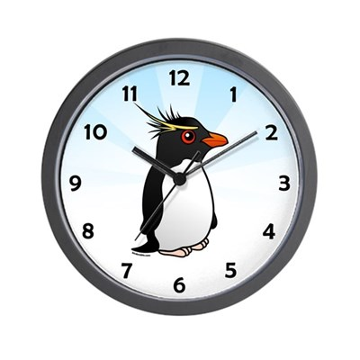 Rockhopper Penguin Wall Clock