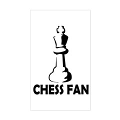 Chess Fan Sticker (Rectangle)