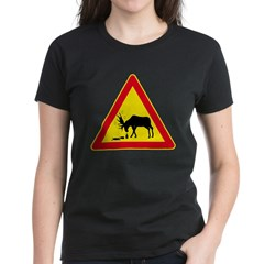 Women's Dark T-Shirt Drunk Moose from the Metal From Finland Shop