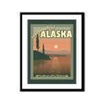 Visit Beautiful Alaska Framed Panel Print