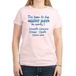 Happiest Places on Earth Women's Light T-Shirt
