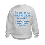 Happiest Places on Earth Kids Sweatshirt