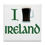 I Love Ireland (beer) Tile Coaster