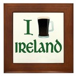 I Love Ireland (beer) Framed Tile